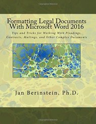 Formatting Legal Docs MW 2016